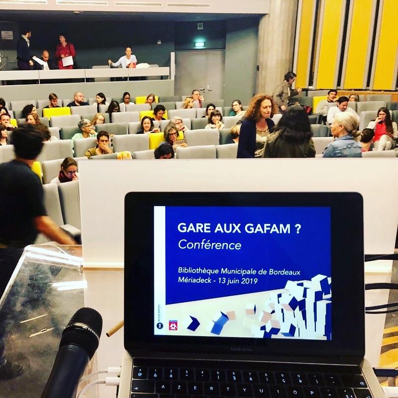 Conférence Gare aux GAFAM Bordeaux 2019
